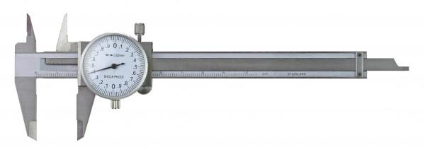 Uhren-Messschieber, 100 x 0,02 mm, DIN 862