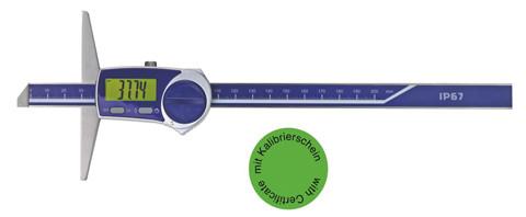 Digital depth caliper 300 x 150 mm, IP 67 with certificate