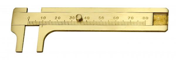 Messschieber aus Messing, 80 mm
