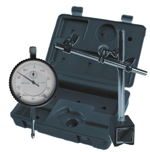 Messuhr 0 - 10 mm mit Magnet-Messstativ 60 kg