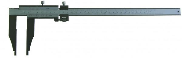 Werkstatt-Messschieber, 200 x 60 mm, ohne Spitzen, leichte Ausführung, Werksnorm