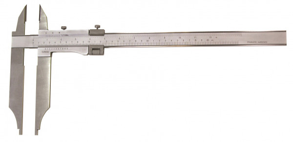 Precision control caliper 800 x 400 mm with points manufacture standard