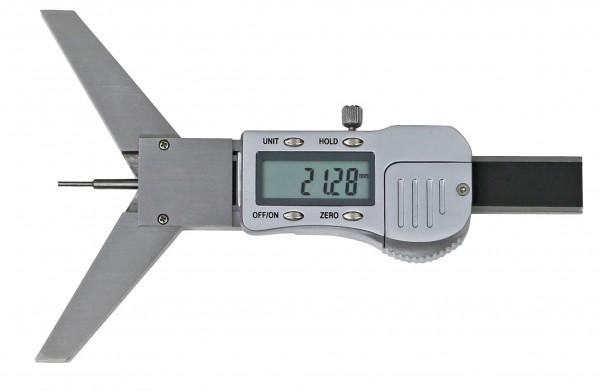Digital-Tiefen-Messschieber 50 mm, mit Prisma-Messbrücke 90°, 3 V