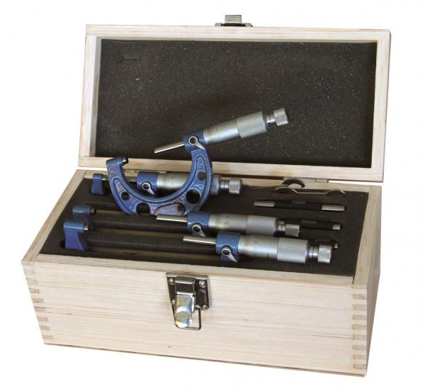 Bügelmessschraubensatz 100 - 200 mm, DIN 863