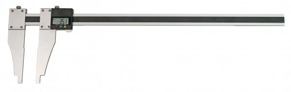 Digital Werkstatt-Messschieber, 1500 x 150 mm, mit verschiebbarem Schnabel, aus Aluminium