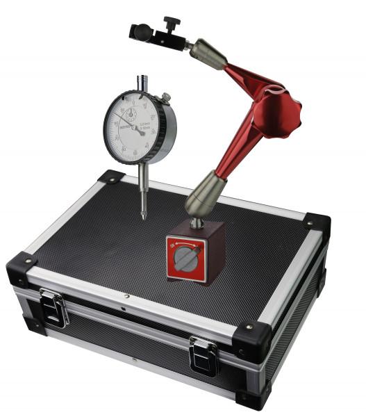 Messuhr 0 - 10 mm mit Magnet-Messstativ Gesamtlänge 375 mm