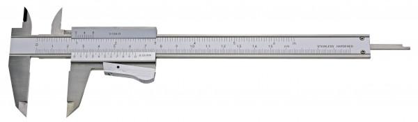 Taschen-Messschieber, 150 mm, mit Momentfeststellung, Top, DIN 862