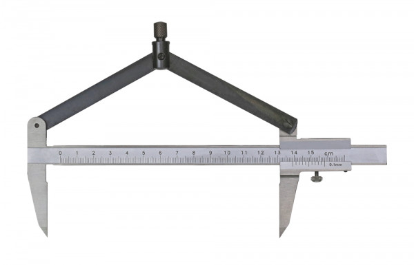 Compass vernier caliper with carbide points