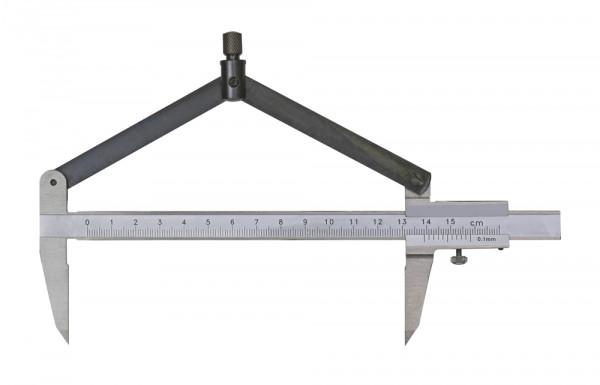 Zirkel-Messschieber 200 mm mit Hartmetall-Spitze