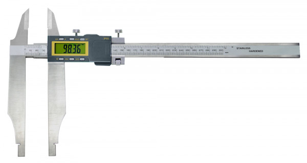 Digital-Werkstatt-Messschieber, 600 x 150 mm, mit Messerspitzen, IP 65