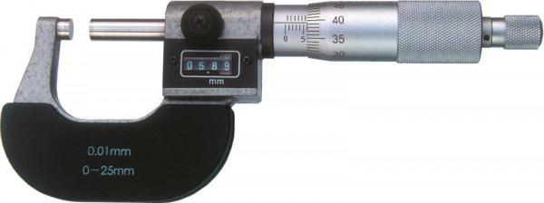 Bügelmessschrauben 0 - 25 mm, mit Zählwerk
