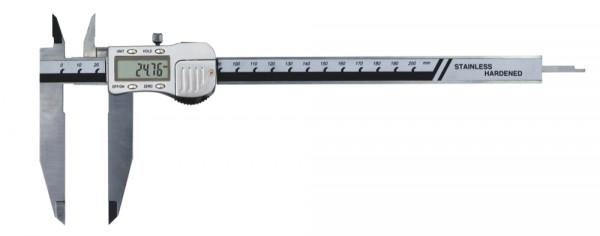 Digital-Messschieber, 200 mm, mit extra langem Messschnabel, 3 V