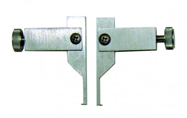Messeinsätze mit flachen Messflächen, 2 x 0,4 mm, für Nuten-Messung