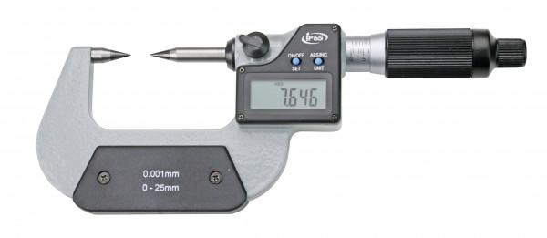 Digital-Bügelmessschraube 0- 25 mm mit HM-Spitzen