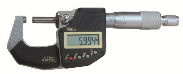 Digital-Bügelmessschraube 25 - 50 mm, IP 65, DIN 863