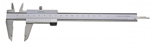 Taschen-Messschieber, 200 mm, parallaxfrei, DIN 862