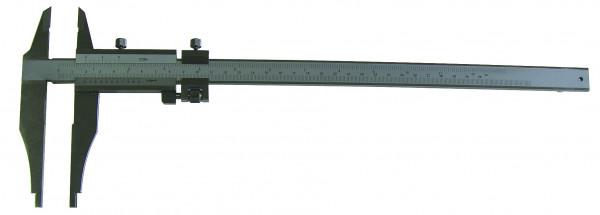 Werkstatt-Messschieber, 250 x 80 mm, mit Spitzen, leichte Ausführung, Werksnorm