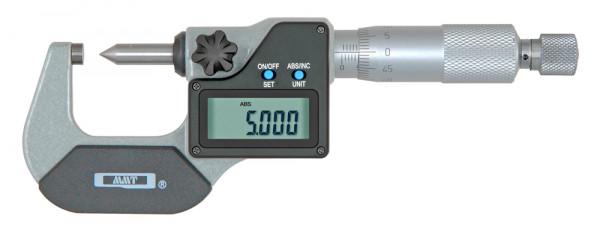 Digital-Bügelmessschraube 0 - 25 mm mit Kegelspitze