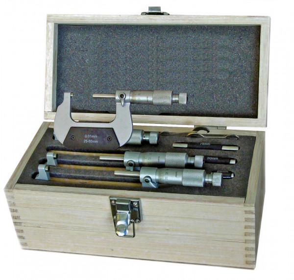 Bügelmessschraubensatz 0 - 100 mm, DIN 863