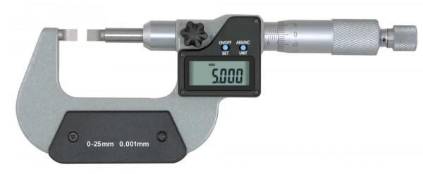 Digitale Bügelmessschraube 0 - 25 mm zur Nutenmessung