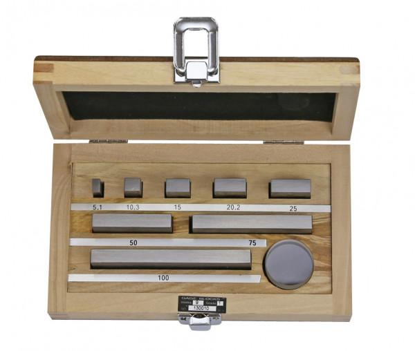 Parallelendmaß-Prüfsatz für Mikrometer nach DIN 863 mit Planglas