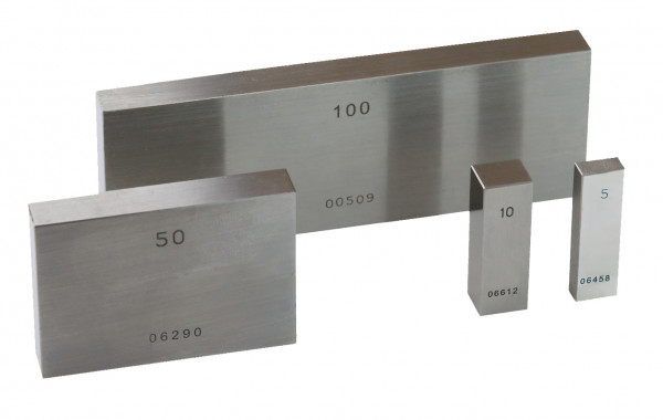 Single gauge block 9,5 mm special steel Degree 1