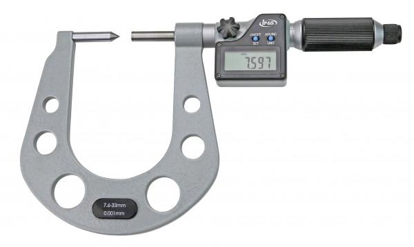 Digital-Messschraube 7,5 - 33 mm mit HM-Spitzen
