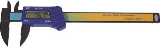 Digital-Taschen-Messschieber, 150 mm, aus Fiberglas