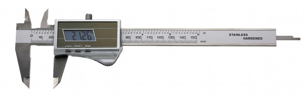 Digital-Taschen-Messschieber, 200 mm, mit Solarzelle, DIN 862