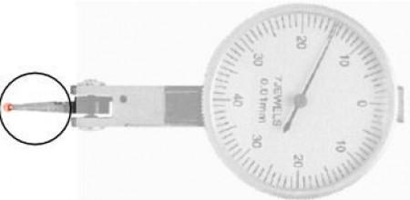 Rubin- Ersatztaster Länge 14,5 mm