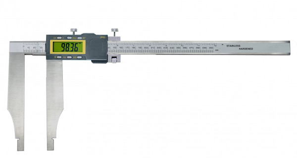 Digital control caliper, 600 x 200 mm, without points, IP 65