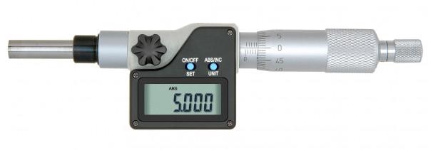 Digital-Einbau-Messschraube, 0 - 25 mm, mit Aufnahme Ø 5 mm