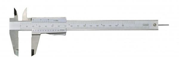 Taschen-Messschieber, 150 mm, mit rundem Tiefenmaß, DIN 862