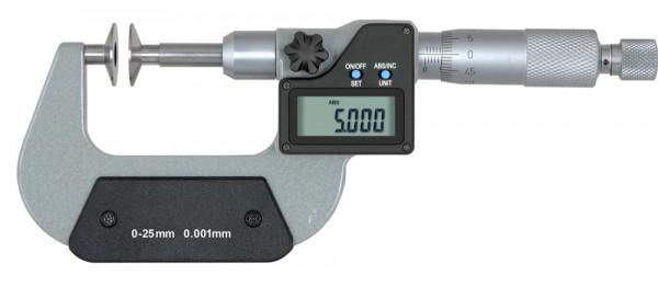 Digital-Bügelmessschraube 75 - 100 mm mit Tellermessflächen 20 mm