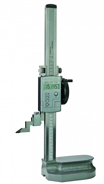 Digital height and marking gauge, 600 mm, with driving wheel
