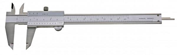 Taschen-Messschieber, 150 mm, mit Feststellschraube, Top, DIN 862