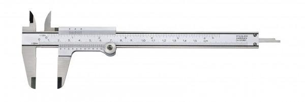 Taschen-Messschieber, 150 mm, mit Feststellrad, DIN 862