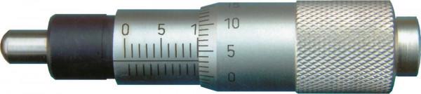 Einbau-Messschrauben,  ballig, 0 - 15 mm, DIN 863