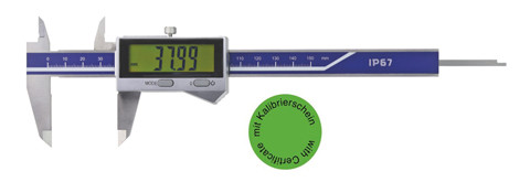 Digital pocket caliper 0-300 mm IP 67 with certificate