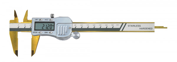 Digital pocket caliper TIN coated range 0-150 mm