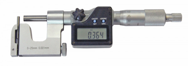 Präzisions-Universal-Bügelmessschraube 0 - 25 mm, digital