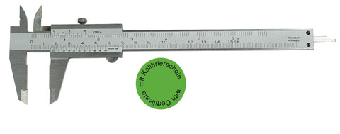 Vernier caliper analog Range 0 - 150 mm DIN 862 with certificate