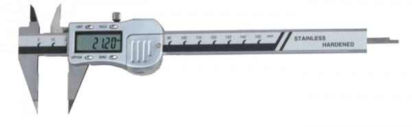 Digital-Messschieber, 150 mm, mit spitzem Schnabel, 3 V