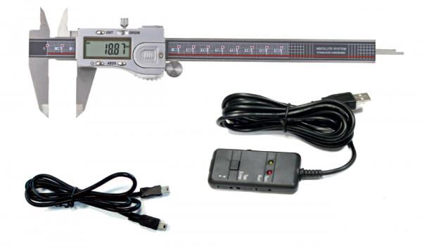 Digital-Messschieber 200 mm + USB-Interface