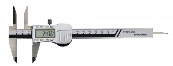 Digital caliper with long measuring points 0-150 mm