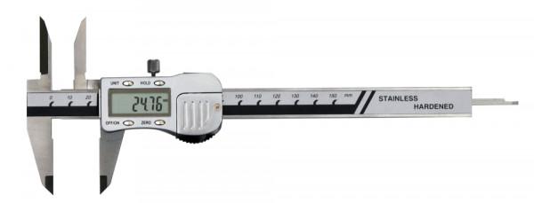 Digital-Messschieber, 150 mm, mit extra langen Messspitzen, 3 V