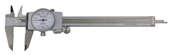 Uhren-Messschieber,  200 x 0,01 mm, DIN 862