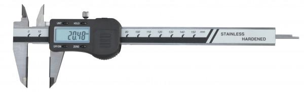 Digital-Taschen-Messschieber, 150 mm, mit Hartmetall- Messflächen, DIN 862, 3 V