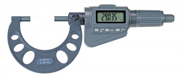 Digital-Bügelmessschraube 0 - 35 mm, mit Friktionsratsche, Messweg 35 mm