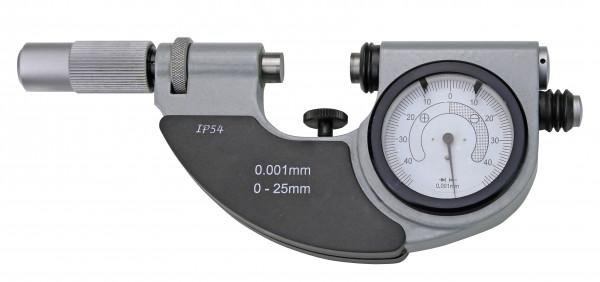 Bügelmessschrauben 0 - 25 mm, mit Feinzeiger